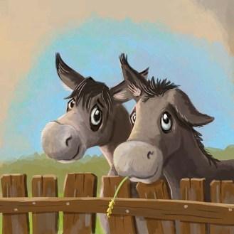 9-Op een ezel-klein leontine illustrator