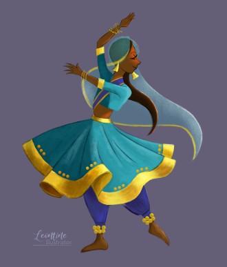 indian dancer leontine